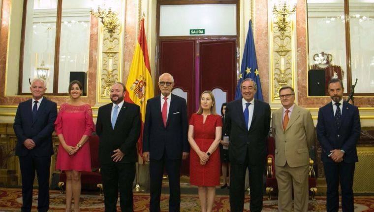 El presidente del Cacif, Antonio Malouf, asume la presidencia del Consejo Empresarial Iberoamericano en España. (Foto Prensa Libre: Cortesía Cacif)