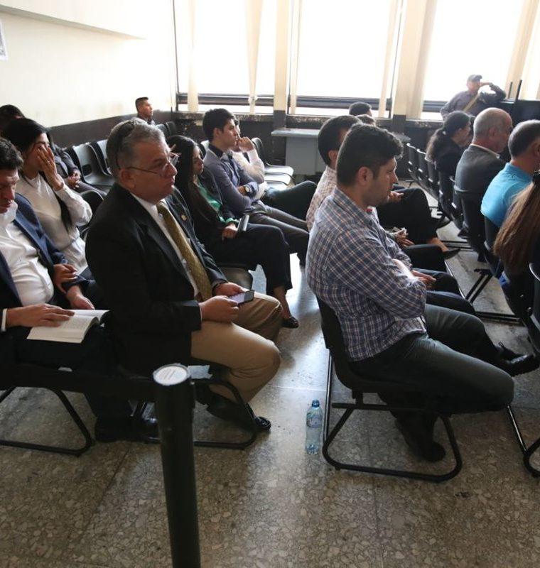 La audiencia de este martes se desarrolló en el Juzgado de Mayor Riesgo D. (Foto Prensa Libre: Paulo Raquec).