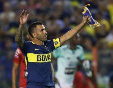 El argentino Carlos Tevez regresó a Boca Juniors después de pasar los últimos seis meses en el futbol de China. (Foto Prensa Libre: AFP)
