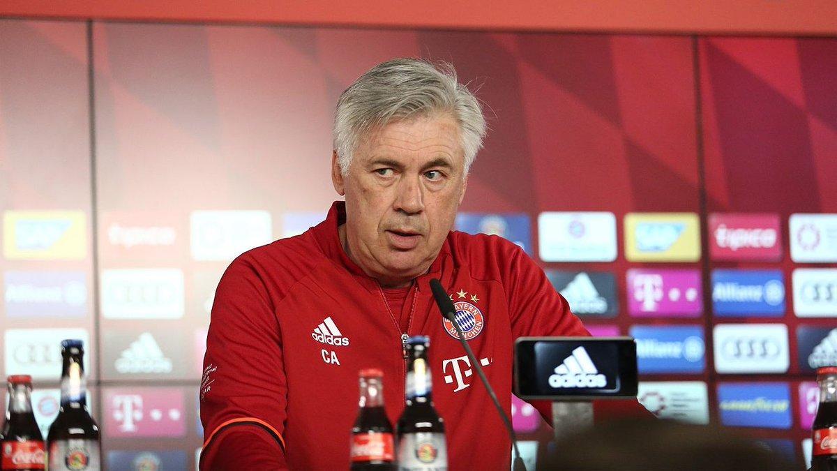 Carlo Ancelotti, entrenador del Bayern Múnich. (Foto Prensa Libre: Twitter Bayern Múnich)
