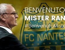 Claudio Ranieri deja atrás su historia con el Leicester y está listo para un nuevo reto. (Foto Prensa Libre: Twitter)