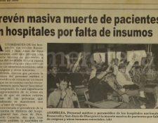 Nota de Prensa Libre del 1 de marzo de 1994. (Foto: Hemeroteca PL)