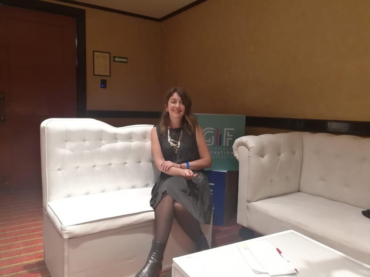 Jessica Fernández, experta en nanotecnología participó el martes en el GIF 2018. (Foto, Prensa Libre: Rosa María Bolaños).