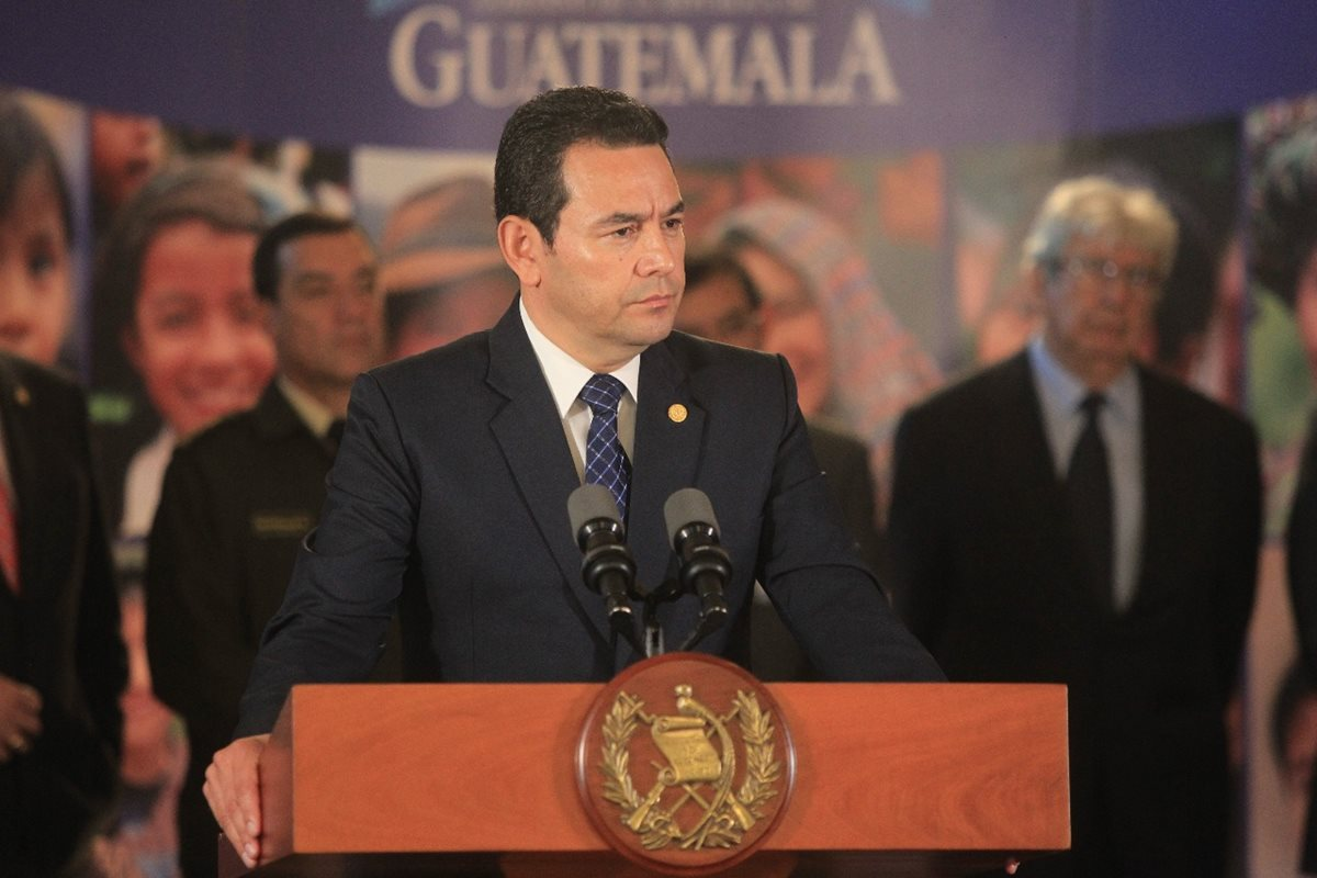 Presidente de Guatemala, Jimmy Morales. (Foto Prensa Libre: Hemeroteca PL).