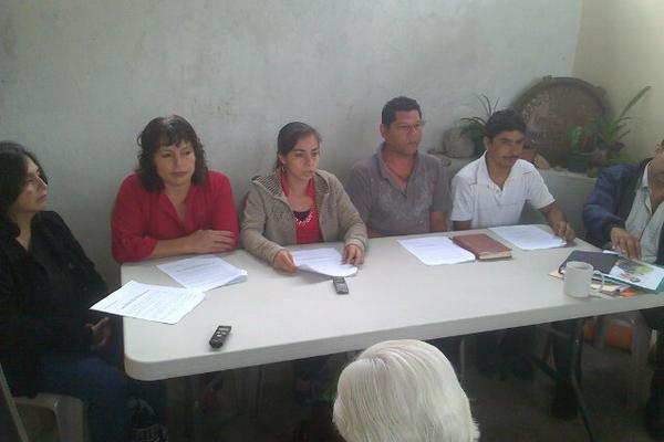 """Comunitarios llaman a continuar el diálogo. (Foto Prensa Libre: Carlos Álvarez)<br _mce_bogus=""""1""""/>"""