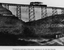 Viaducto Estrada Cabrera, sobre el ri?o Las Vacas. Coleccio?n Ferrocarril Interocea?nico (1898-1908). (Foto: Fototeca Guatemala, CIRMA)
