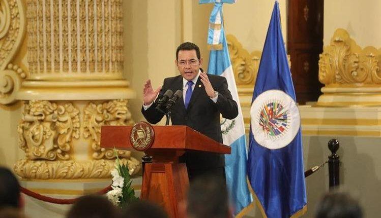 El presidente Jimmy Morales fue señalado en junio pasado de supuestos abusos sexuales. (Foto Prensa Libre: Hemeroteca)