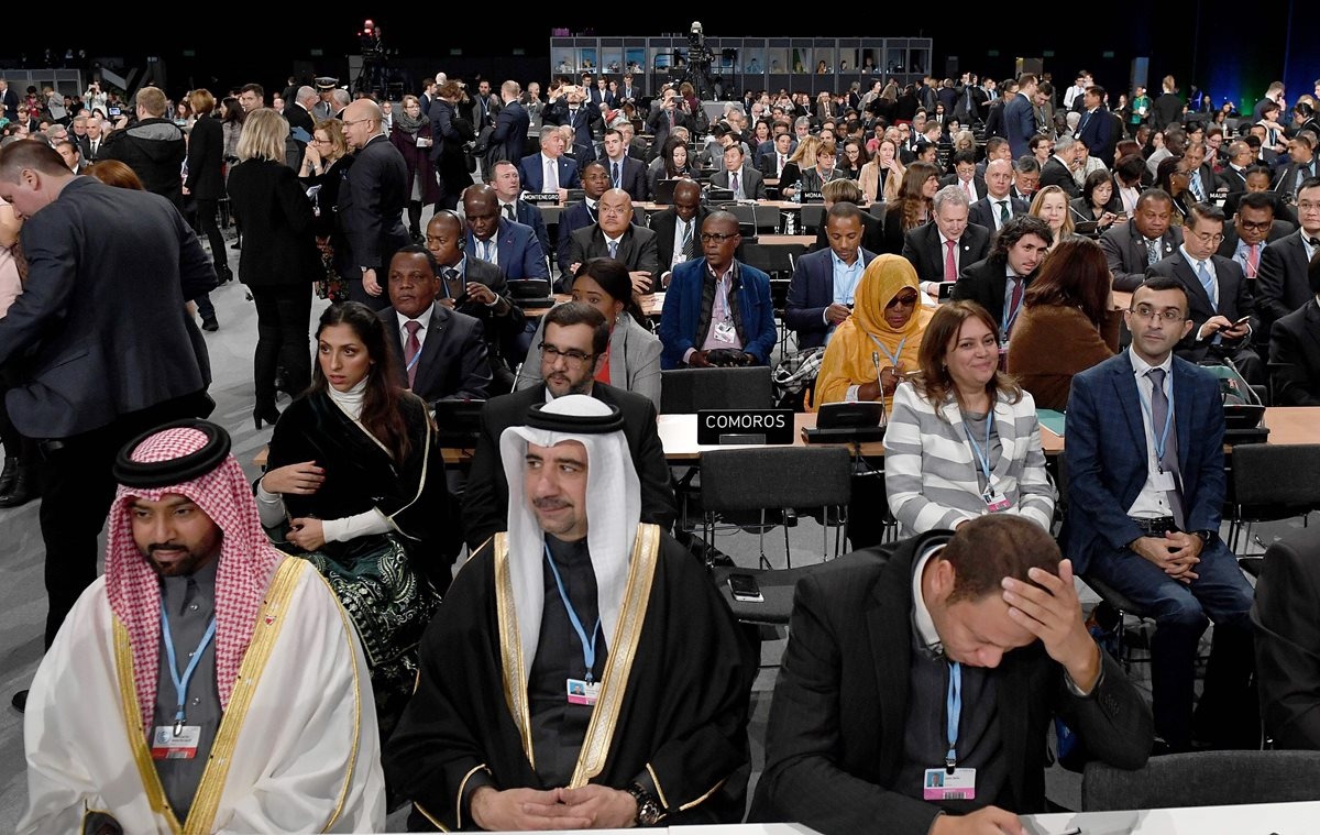 Líderes y negociadores de 200 países asisten a la COP24. (Foto Prensa Libre: AFP)