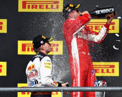 Raikkonen aplaza la celebración de Lewis Hamilton en el campeonato 2018 de la Fórmula 1