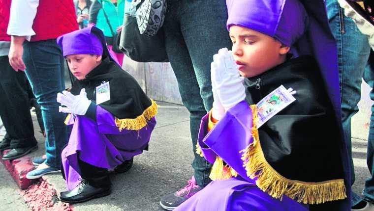 La Semana Santa es una época valorada por las personas que profesan la fe católica. (Foto Prensa Libre: Hemeroteca PL)