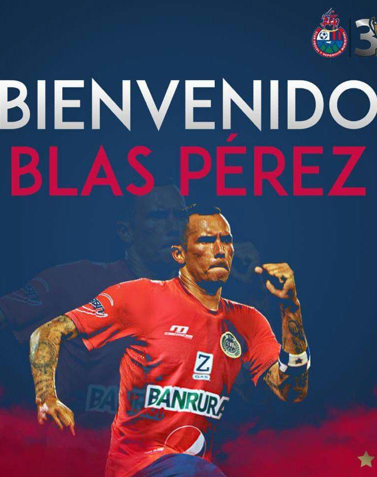Municipal confirmó la llegada del panameño Blas Pérez. (Foto Prensa Libre: tomada de rojos.com)