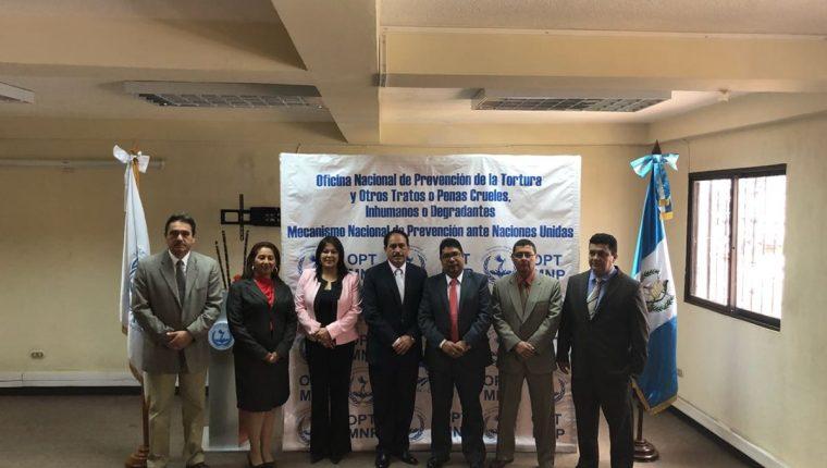 Los miembros de la Oficina Nacional de Prevención de la Tortura. (Foto Prensa Libre: Oficina Nacional de Prevención de la Tortura)