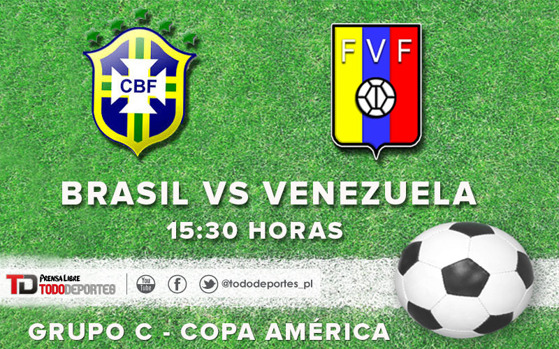 Brasil y Venezuela buscarán su pase hacia los cuartos de final de la Copa América. (Foto Prensa Libre: TodoDeportes)