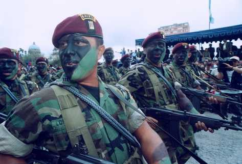 Fuerza élite militar Kaibil.