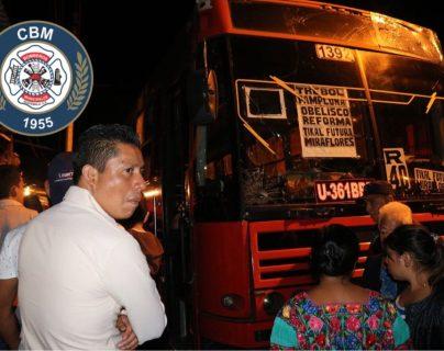 Piloto de la ruta 40R muere baleado en la zona 11. (Foto Prensa Libre: Bomberos Municipales)