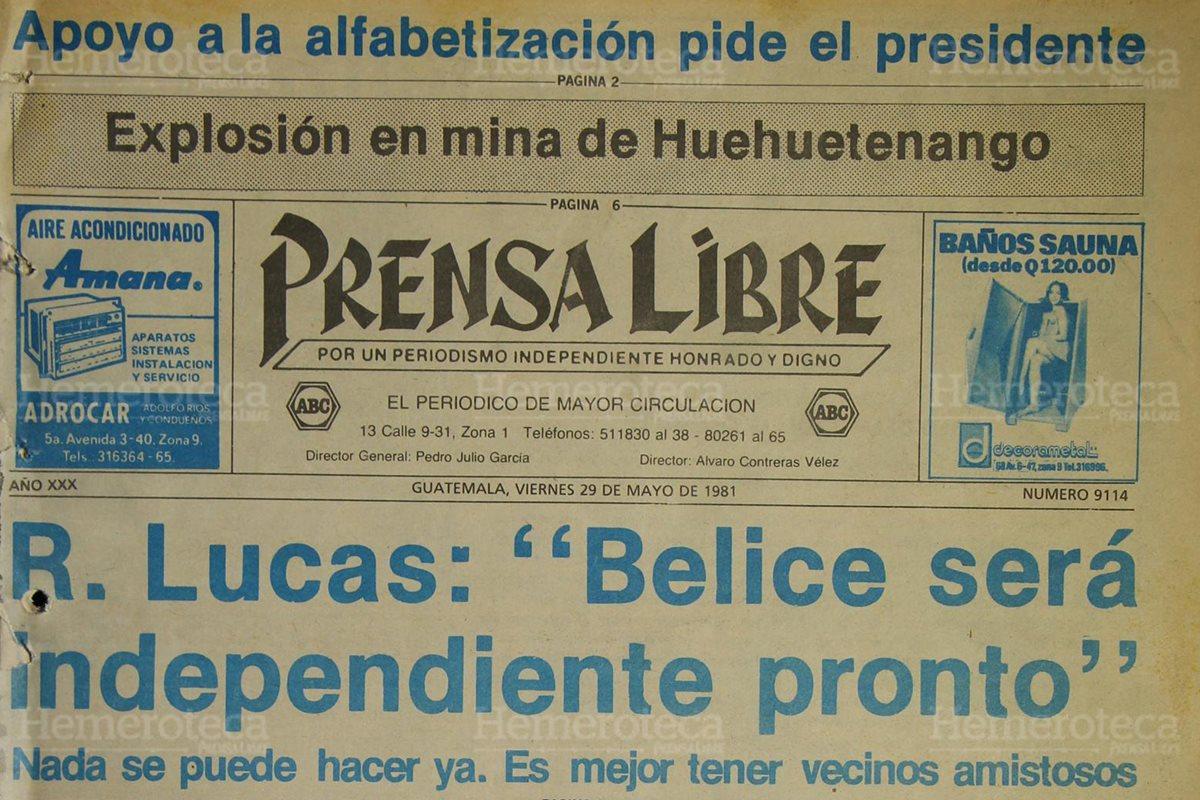 Guatemala ve inminente la independencia de Belice