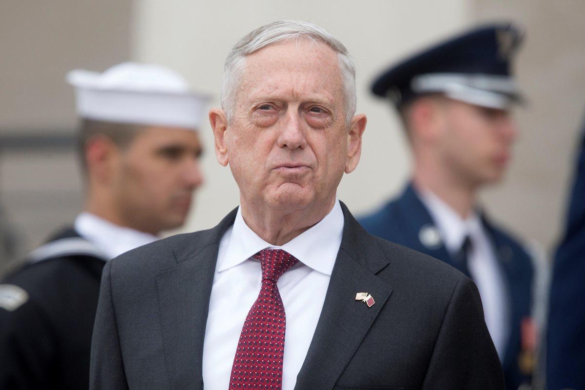 James Mattis, secretario de Defensa de EE. UU., abrió la posibilidad a tomar nuevas acciones militares en Siria. (Foto Prensa Libre: EFE)