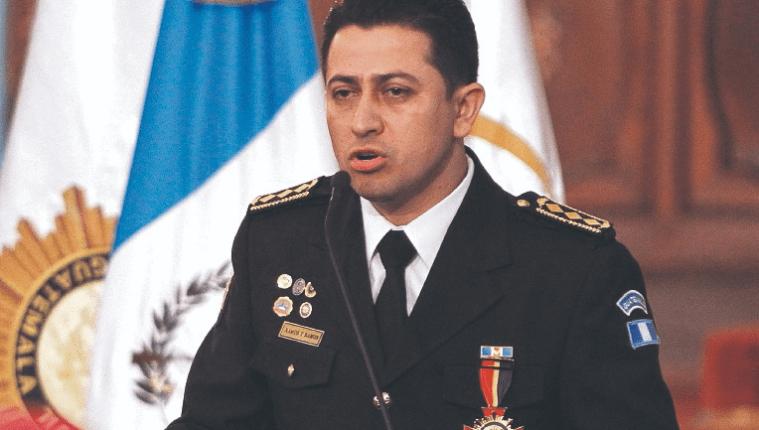 El exdirector de la PNC, Nery Ramos, durante una actividad en el Palacio Nacional de la Cultura. (Foto Prensa Libre: Hemeroteca PL)