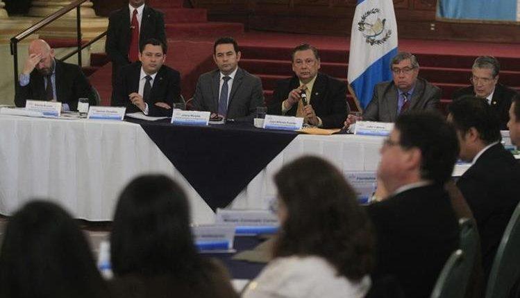 El presidente Jimmy Morales, presidirá el nuevo Gabinete del Plan Alianza para la Prosperidad. (Foto Prensa Libre: Hemeroteca PL)
