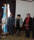 Carlos Ramiro Martínez Alvarado, Anamaría Diéguez Arévalo, Alicia Virginia Castillo Sosa, y Sandra Érica Jovel Polanco, son juramentados. (Foto Prensa Libre: SGP)
