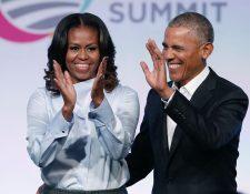 Michelle y Barack Obama trabajarán con Netflix para crear series y películas (Foto Prensa Libre: AFP)
