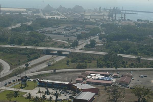 El área que el Gobierno entregó en usufructo por 25 años a Terminal de  Contenedores Quetzal en el 2012 mide 348 mil metros cuadrados.