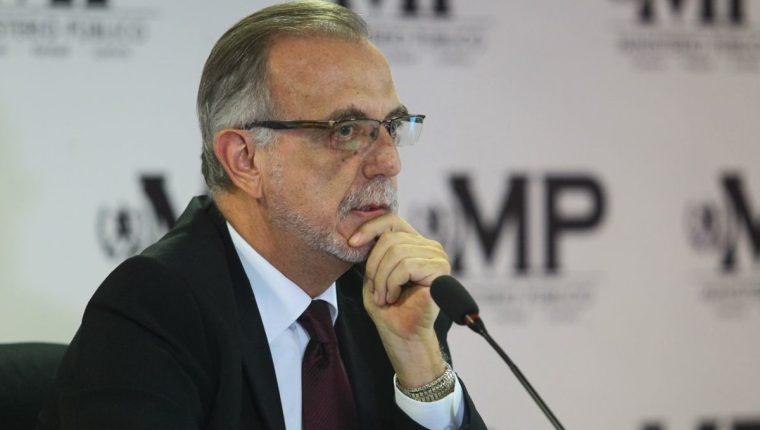 Iván Velásquez durante una conferencia de prensa  en el MP en diciembre de 2018 (Foto Prensa Libre: Hemeroteca).