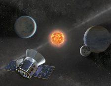Una imagen de la Nasa del satélite Transiting Exoplanet Survey Satellite (TESS) que se lanzó en el cohete SpaceX Falcon 9.(Foto Prensa Libre:AFP).
