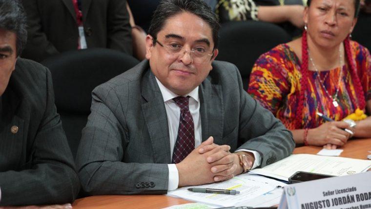 El Procurador de los Derechos Humanos, PDH, durante una citación en el Congreso de la República. (Foto Prensa Libre: Hemeroteca PL).