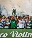 El Sporting se consagró campeón de una manera insólita. (Foto Prensa Libre: AFP)