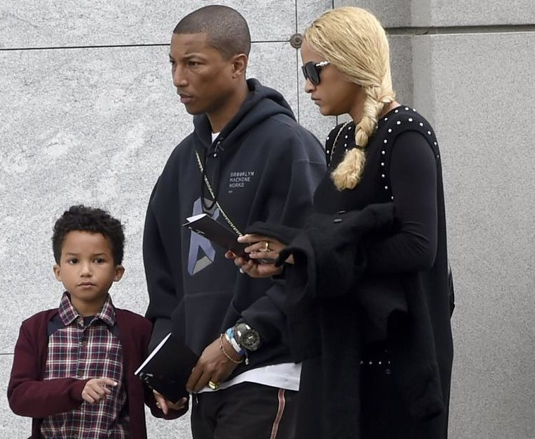 Pharrell Williams, con su familia.