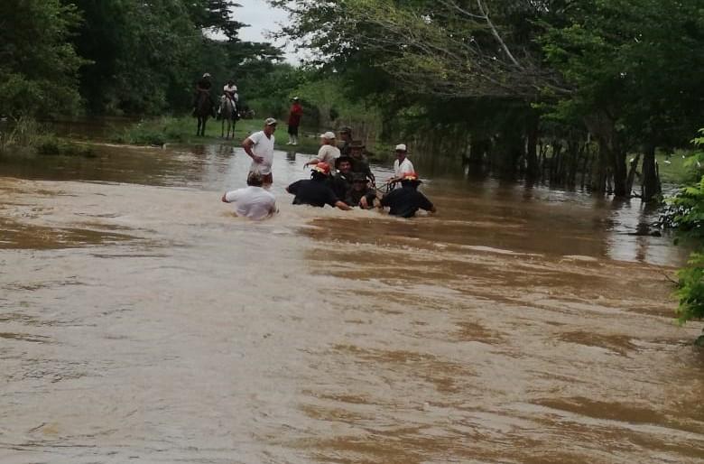 El Insivumeh advierte de la crecida repentina de los ríos por las fuertes lluvias, principalmente en Jutiapa y Escuintla. (Foto: Bomberos Municipales Departamentales)