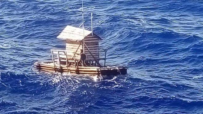 Adilang se encontraba a bordo de un rompong, una trampa flotante de pesca con forma de choza. INDONESIAN CONSULATE OSAKA/FACEBOOK