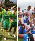 Chiantla e Iztapa disputarán la final del Clausura 2018 de la Primera Divisón en la que ambos cuadros ya tienen sellado su pase a la Liga Nacional. (Foto Prensa Libre: Mike Castillo y Raúl Juárez)