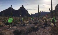 El grupo Águilas del Desierto es una organización que se dedica a la búsqueda de migrantes en el desierto. (Foto Prensa Libre: Cortesía Águilas del Desierto)