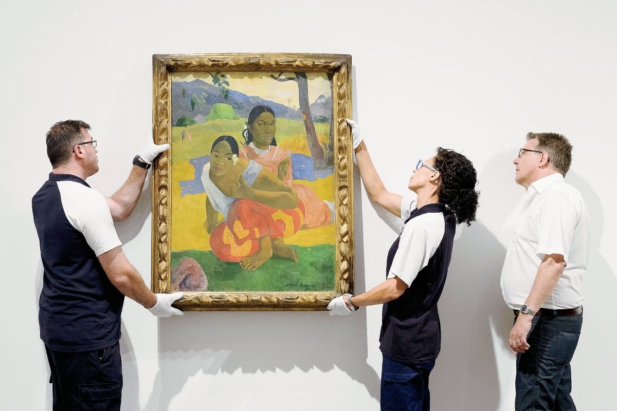 El cuadro más caro del mundo, de Gauguin, cuelga ya en el Museo Reina Sofía