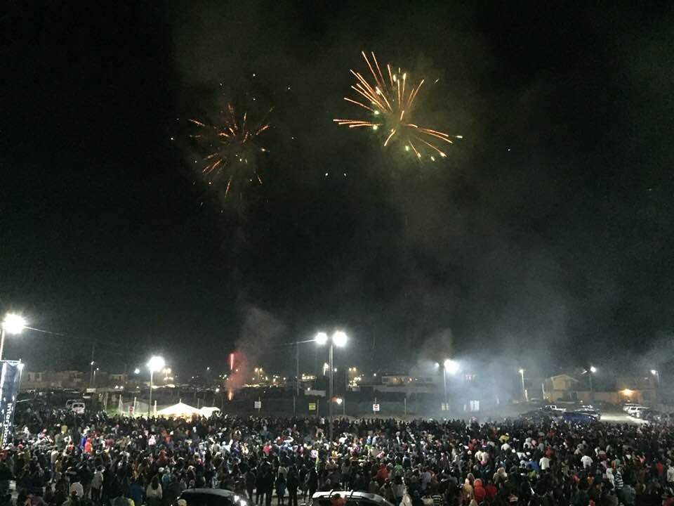 Interplaza llevó a cabo este fin de semana un show de luces. (Foto Prensa Libre: Cortesía)