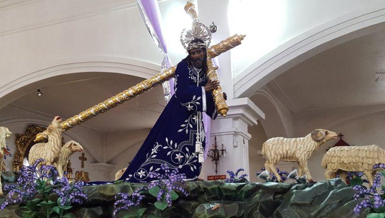 La consagrada imagen de Jesús Nazareno de los Milagros comenzará su proceso de restauración después de Semana Santa. (Foto Prensa Libre: Hemeroteca PL)