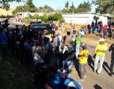 El accidente donde murió Eslin Elizando Jiménez Ávila ocurrió en la aldea El Durazanal, Mataquescuintla, Jalapa. (Foto Prensa Libre: Hugo Oliva)