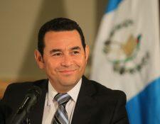 Jimmy Morales en conferencia de prensa detalla cual es su plan para iniciar el proceso de transición. (Foto Prensa Libre: Eswin García)