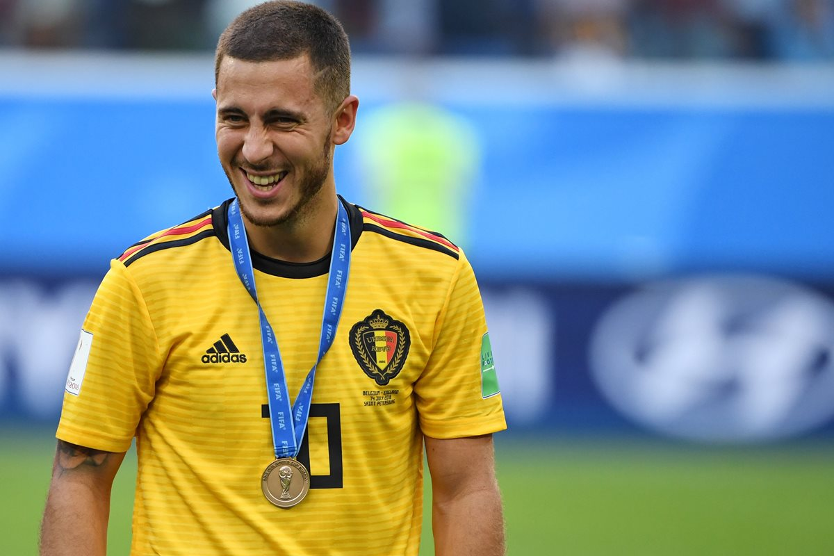 Eden Hazard jugó un Mundial excepcional aunque le quedó el sabor agridulce de no consagrarse campeón con Bélgica. (Foto Prensa Libre: AFP)