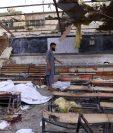 Centro educativo en Kabul después del atentado