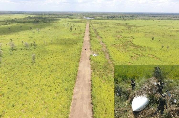 Localizan pista clandestina y avioneta de supuestos narcos en parque Laguna del Tigre