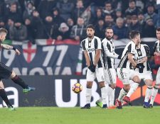 El Juventus de Turín, líder, jugará el domingo en el campo del Sassuolo en una vigésima segunda jornada de la Serie A. (Foto Prensa Libre: AFP)
