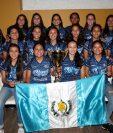 La jugadoras de Unifut se proclamaron campeonas del torneo Interclubes de la Uncaf, que se celebró en Panamá, la semana pasada (Foto Prensa Libre: Edwin Fajardo)