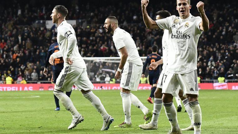 El Real Madrid vuelve a ganar en la Liga . (Foto Prensa Libre: AFP)