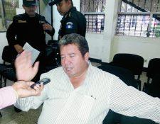 El exalcalde César Augusto López Garza fue detenido por peculado y malversación. (Foto Prensa Libre: Rolando Miranda)