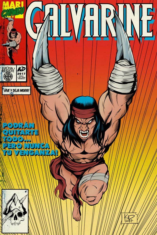 """""""Galvarine"""", el héroe mapuche convertido en cómic que parodia a Wolverine de X-Men"""