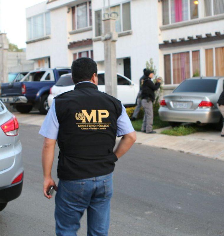 Una de las viviendas allanadas. (Foto Prensa Libre: MP)