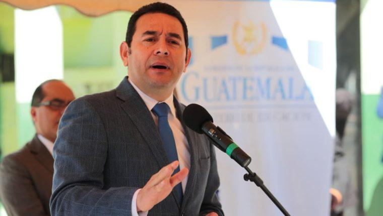 El presidente Jimmy Morales dijo que una de las principales preocupaciones es que la Cicig no respeta las leyes del país. (Foto Prensa Libre: Álvaro Interiano)
